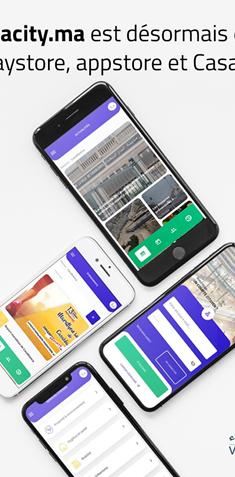 للاستفادة من الخدمات الرقمية لمدينة الدار البيضاء حملوا تطبيق CASABLANCA CITY على هواتفكم