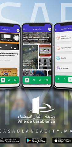 تطبيق CASABLANCA CITY متوفر على الهواتف الذكية