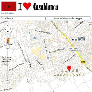 Casablanca Map